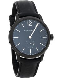 Burberry Black Pvd Coated Stainless Steel Classic Bu10003 Wristwatch