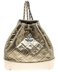Chanel - Metallic Leather Small Gabrielle Backpack - Lyst