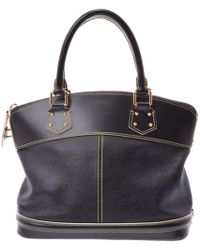 Louis Vuitton Black Suhali Leather Lockit Pm Bag