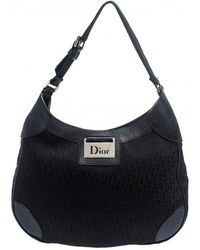 Dior Black Issimo Canvas And Leather Hobo