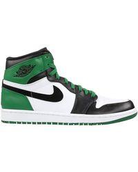 Nike Air Jordan 1 X Tricolor Leather Retro Celtics High Top Trainers Size 43.5 - Green