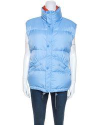 Louis Vuitton Blue Nylon Sleeveless Puffer Jacket