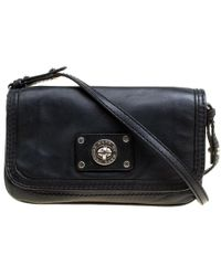 Marc By Marc Jacobs Black Leather Turn Lock Crossbody Bag
