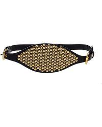 Giuseppe Zanotti Black Leather Studded Waist Belt Medium