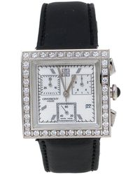 Givenchy White Stainless Steel Leather Apsaras Reg.1.558.962 Wristwatch - Black