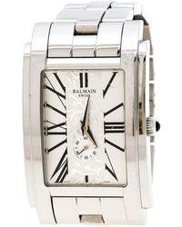 Balmain Silver White Stainless Steel 2721 Men's Wristwatch 32 Mm - Metallic