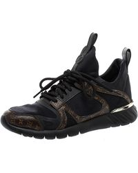 Louis Vuitton Black/brown Fabric And Monogram Canvas Aftergame Trainers