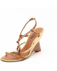 Louis Vuitton - Andalucia Wedge Sandals - Lyst