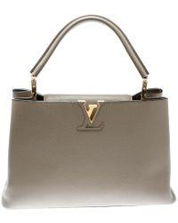 Louis Vuitton - Galet Taurillon Leather Capucines Mm Bag - Lyst