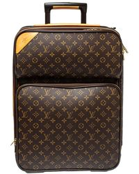 Louis Vuitton Monogram Canvas Pegase 55 Luggage - Brown