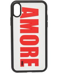 Dolce & Gabbana White Amore Embossed Pvc Iphone Xr Case