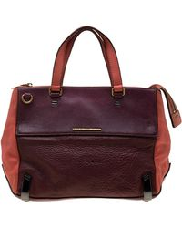 Marc By Marc Jacobs Tri Color Leather Sheltered Island Satchel - Multicolor