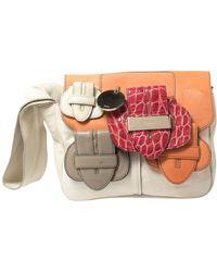 Chloé Multicolor Leather Saskia Clutch Bag