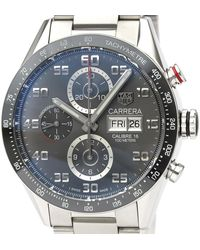 Tag Heuer Gray Ceramic And Stainless Steel Carrera Cv2a1u Automatic Wristwatch 43 Mm