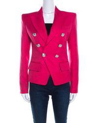 Balmain Classic 6-button Blazer - Pink
