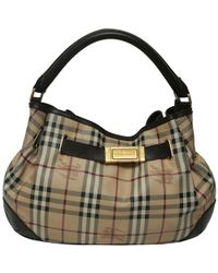 Burberry - Haymarket Check Coated Canvas And Leather Shoulder Bag - Lyst ac4096fc848e4