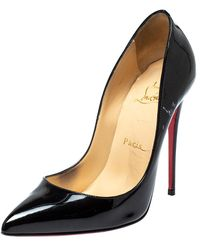Christian Louboutin Black Patent Leather So Kate Pointed Toe Pumps