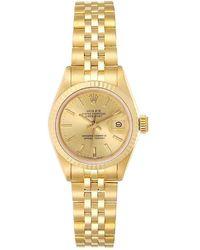 Rolex Champagne 18k Yellow Gold Datejust President 69178 Women's Wristwatch 26 Mm - Metallic
