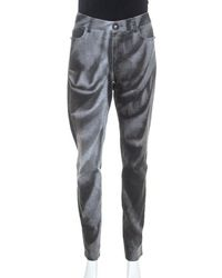 Chanel Grey Wash Effect Denim Regular Fit Jeans M