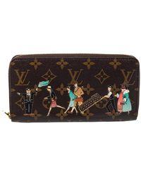 Louis Vuitton Monogram Canvas Illustre Zippy Wallet - Brown