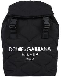 Dolce & Gabbana Black Nylon Palermo Backpack Bag