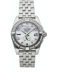 Breitling Mop Diamonds Stainless Steel Galactic A3733053/a717 Wristwatch 36 Mm - White
