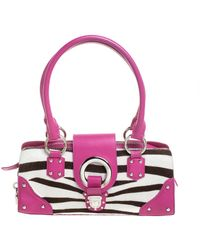 Dolce & Gabbana Tricolor Calf Hair And Leather Ring Frame Shoulder Bag - Multicolor
