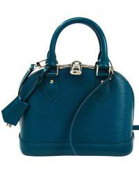 Louis Vuitton Cyan Epi Leather Alma Bb Bag - Blue
