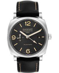 Panerai Black Stainless Steel Radiomir 1940 Pam00627 Wristwatch 45 Mm