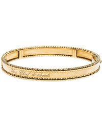 Van Cleef & Arpels Perlee Signature 18k Yellow Gold Bracelet M - Metallic