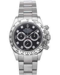 Rolex Black Diamonds 18k White Gold Cosmograph Daytona 116509 Wristwatch 40 Mm