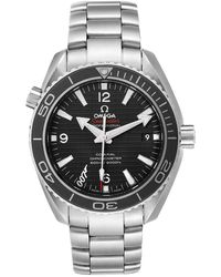 Omega Black Stainless Steel Seamaster Planet Ocean Skyfall 007 Limited Edition 232.30.42.21.01.004 Men's Wristwatch 42 Mm