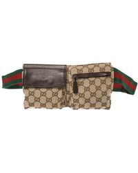 Gucci Beige/brown GG Canvas Waist Belt Bag - Natural