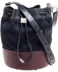 Alexander Wang Tri Colour Calfhair And Leather Diego Bucket Bag - Multicolour