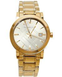 Burberry Champagne Gold Tone The City Bu9033 Wristwatch - Metallic