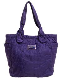 Marc By Marc Jacobs Purple Nylon Medium Pretty Tote