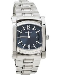 BVLGARI Gray Stainless Steel Assioma Aa39s Wristwatch