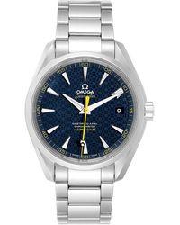 Omega Blue Stainless Steel Seamaster Aqua Terra Spectre Bond 231.10.42.21.03.004 Men's Wristwatch 41.5 Mm