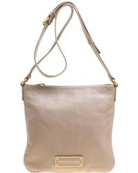 Marc By Marc Jacobs Grey Leather Crossbody Bag