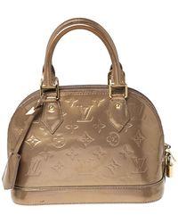 Louis Vuitton Beige Poudre Monogram Vernis Alma Bb Bag - Natural