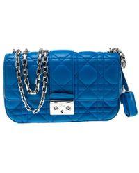 Dior Blue Leather Handbag
