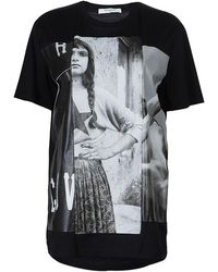 Givenchy Black Monochrome Graphic Print Oversized Tshirt Xs