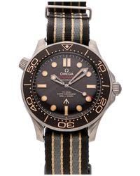 Omega Brown Titanium Seamaster Diver 300m 007 Edition 210.92.42.20.01.001 Wristwatch 42 Mm