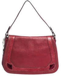 Cartier Red Leather And Python Marcello De Saddle Bag