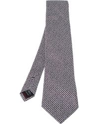 Tom Ford Bicolor Patterned Silk Blend Traditional Tie - Multicolour