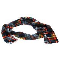 Burberry - Multicolor Wool Tartan Plaid Polka Dotted Fringed Edge Muffler - Lyst