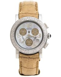 Givenchy Mother Of Pearl Stainless Steel Diamonds Saqqhara Women's Wristwatch 36 Mm - Natural