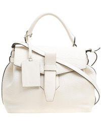 Lancel - Off Grained Leather Medium Charlie De Top Handle Bag - Lyst