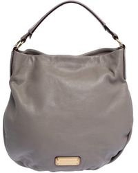 Marc By Marc Jacobs Taupe Leather Classic Q Hillier Hobo - Gray