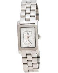 Baume & Mercier White Stainless Steel Hampton Mv045139 Wristwatch - Metallic